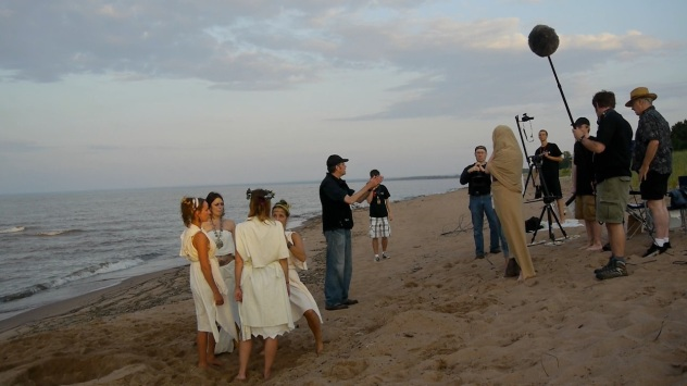The Mysteries Cast on Beach