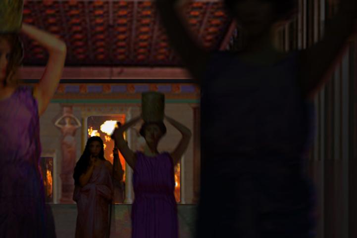Temple Interior Door Procession