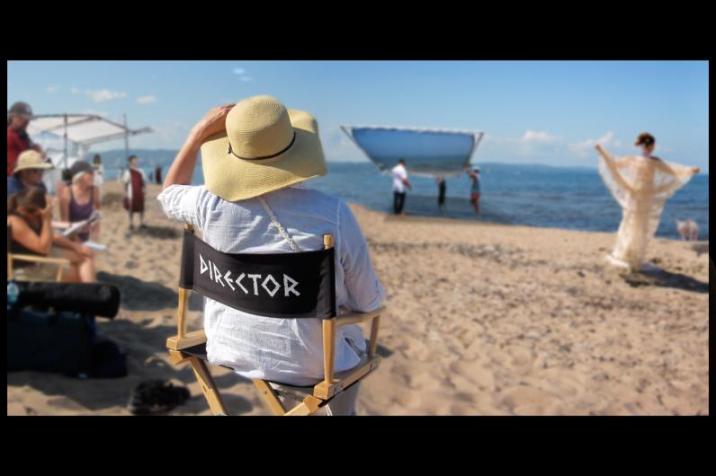 Director on the Beach
