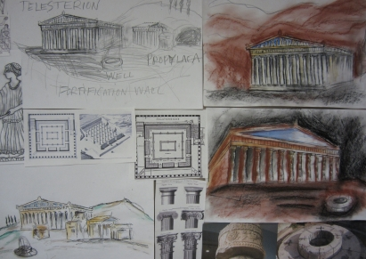 Mysteries Temple Sketches