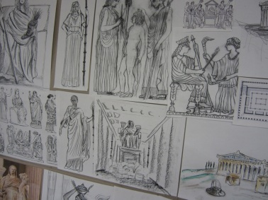 Goddess Shrine Sketch